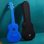 23 Inch Veneer Ukulele Little Guitar with Storage Bag (Blue)