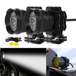 CS-1088A1 G29-9 1 Pair Motorcycle Waterproof  Aluminum Alloy External LED Headlight Spotlight (Black)