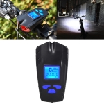 Waterproof Bicycle Light with Horn + Speed Meter LCD Screen