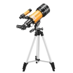High-definition Stargazing Refracting Astronomical Telescope with Mobile Phone Holder (Black Yellow)