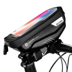 WILD MAN E1 Waterproof Front Bag MTB Mobile Phone Sets Bicycle Tube Bag Riding Accessories (Black)
