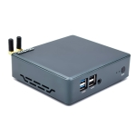 HYSTOU M2 Windows 10 / Linux / WES 7&10 System Mini PC without RAM and SSD, Intel Core i5-8265U 4 Core 8 Threads up to 1.6-3.9GHz, Support M.2, WiFi