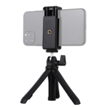 PULUZ Selfie Sticks Tripod Mount + Phone Clamp with Tripod Adopter & Long Screw (Black)