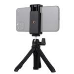 PULUZ Selfie Sticks Tripod Mount + Phone Clamp with Tripod Adopter & Long Screw (Black)