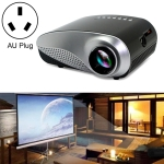 1080P HD Mini LED Projector for Home Multimedia Cinema, Support  AV / TV / VGA / USB / HDMI / SD, AU Plug (Black)