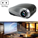 1080P HD Mini LED Projector for Home Multimedia Cinema, Support  AV / TV / VGA / USB / HDMI / SD, EU Plug (Black)
