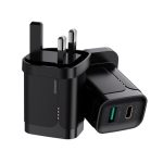 JOYROOM L-QP182 Simple Series 18W Doul Port PD+QC3.0 Travel Charger Power Adapter, UK Plug