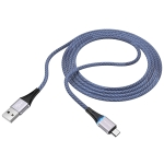 Borofone BU25 1.2m 2.4A USB to Micro USB Glory Charging Data Cable(Blue)