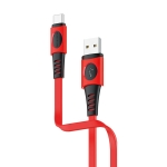Borofone BX35 1m 2.4A Max Output USB to USB-C / Type-C Carib Charging Data Cable (Red)