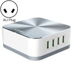 LDNIO A8101 8 x USB Ports QC3.0 Smart Travel Charger, AU Plug(Grey)