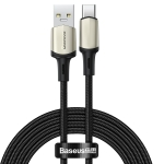 Baseus CATKLF-VB01 Cafule Series USB to Type-C / USB-C Data Cable, Suppport VOOC Flash Charging, Cable Length: 2m(Black)
