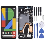 LCD Screen and Digitizer Full Assembly with Frame for Google Pixel 4XL (Black)