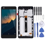 LCD Screen and Digitizer Full Assembly with Frame for Nokia 2.1(Black)
