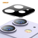 For iPhone 11 Hat-Prince ENKAY Rear Camera Lens Film Aluminium Alloy + PMMA Full Coverage Protector(Silver)