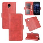 For Kyocera DICNO BX Dual-side Magnetic Buckle Horizontal Flip Leather Case with Holder & Card Slots & Wallet(Red)
