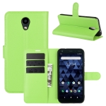 For Kyocera DICNO BX Litchi Texture Horizontal Flip Protective Case with Holder & Card Slots & Wallet(Green)