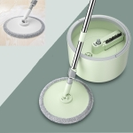 Single Bucket washing And Spinning Rotary Mop, Color:Green