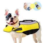 Pet Life Jacket Airbag Inflatable Dog Folding Safety Swimsuit, Size:S