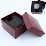 10 PCS Simple Imitation Leather Watch Jewelry Packaging Box Watch Box(Maroon)