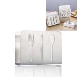 2 PCS Restaurant Hotel Napkin Nolder Paper Towel Holder Stainless Steel Square Towel Holder, Style:Tableware (Sanding)