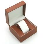 2 PCS Flip Watch Box Bracelet Gift Packaging Storage Box(Brown)
