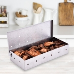 Stainless Steel Smoke Box Wood Chips Barbecue Smoke Box