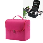 Large-capacity Multi-layer Professional Cosmetic Bag Portable Nail Makeup Toolbox(Rose Red)