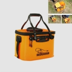 Thickened Multifunctional Folding Live Fish Box Fishing Bucket, Size:35 cm (with Handle without Side Pockets)