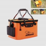 Thickened Multifunctional Folding Live Fish Box Fishing Bucket, Size:45 cm (with Handle and Side Pocket)