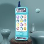 Baby Puzzle Early Education Telephone Children Music Simulation Intelligent Sound and Light Landline(Blue)
