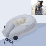 Cervical Massager Portable Massage Pillow, Colour:Light Gray