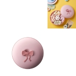 2 PCS Living Room Home Creative Pastry Tray Snack Box Dessert Dried Fruit Candy Plastic Fruit Plate, Style:Round-Pink