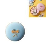 2 PCS Living Room Home Creative Pastry Tray Snack Box Dessert Dried Fruit Candy Plastic Fruit Plate, Style:Round-Blue