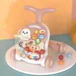 Multifunctional Baby Walker Trolley Anti-rollover Baby LearningTo Walk Kids Toys(Pink)