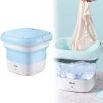 CHIGO ZGBX-803 Portable Mini Automatic Folding Bucket Type Travel Washing Machine Underpants Sock Disinfect Laundry(Blue)