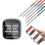 2 PCS Kitchen APP Thermometer Wireless BBQ Food Meat Electronic Bluetooth Thermometer