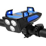 Bicycle Light + Mobile Phone Bracket + Speaker Multifunctional Bicycle Headlight, Battery Capacity:4000 mAh(Blue)