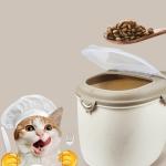 Pet Food Bucket Dog Food Storage Bucket Sealed Moisture-proof Storage Box, Specification: Large