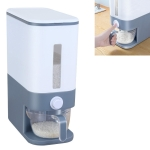 Household Kitchen Waterproof Moisture-proof Large-capacity Rice Storage Box Rice Flour Storage Tank(Gray)