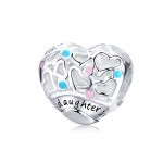 925 Sterling Silver Love Heart Beaded DIY Bracelet Accessories
