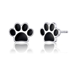 Sterling Silver Pet Paw Print Earrings Dripping Earrings