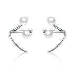 Simple Women Pearl Earrings Sterling Silver Wild Earrings