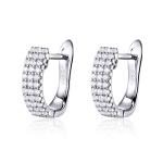 Circle Earrings S925 Sterling Silver Earrings