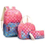 3 in 1 Children Backpack Schoolbag + Meal Bag + Pencil Case, Size: 16 inch(D7-16)