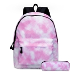 2 in 1 Tie-dye Series Backpack Children Schoolbags Pencil Bags, Size: 16 inches(Tie Dye Series 09)