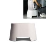 Plastic Stool Children Bathroom Non-slip Small Stool Living Room Shoe Stool, Size:33×25.5×19.5cm(Apricot)