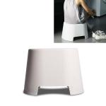 Plastic Stool Children Bathroom Non-slip Small Stool Living Room Shoe Stool, Size:34×26.2×24.5cm(Apricot)