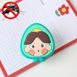 6 PCS Children Summer Outdoor Cartoon Fruit Insect Repellent Clip(Avocado)