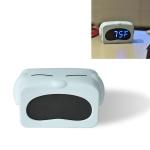 Mini Cute Cartoon Multifunctional Digital Luminous Thermometer Small Alarm Clock(Blue Dog)