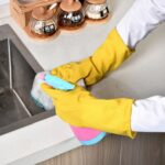 10 PCS Natural Latex Acid And Alkali Resistant Gloves Waterproof Car Wash Cleaning Household Multifunctional Gloves, Size:S